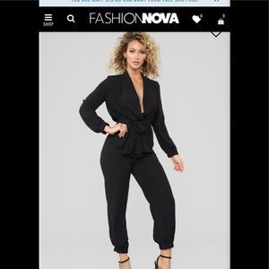 Stroll At The Plaza Jumpsuit - Black